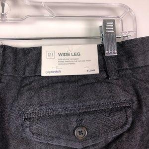 GAP Pants - NWT Gap Wide Leg Dark Gray Denim Trousers